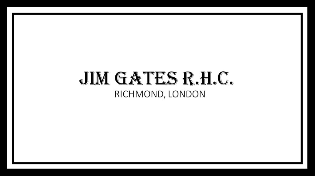 機能性香水、機能性フレグランスのJIM GATES R.H.C. ブランドロゴ